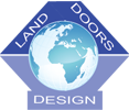 logo land doors design